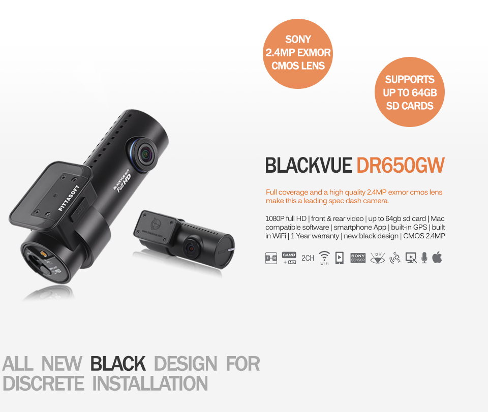 blackvue dr650gw 2ch dash camera auto blackbox australia. Black Bedroom Furniture Sets. Home Design Ideas