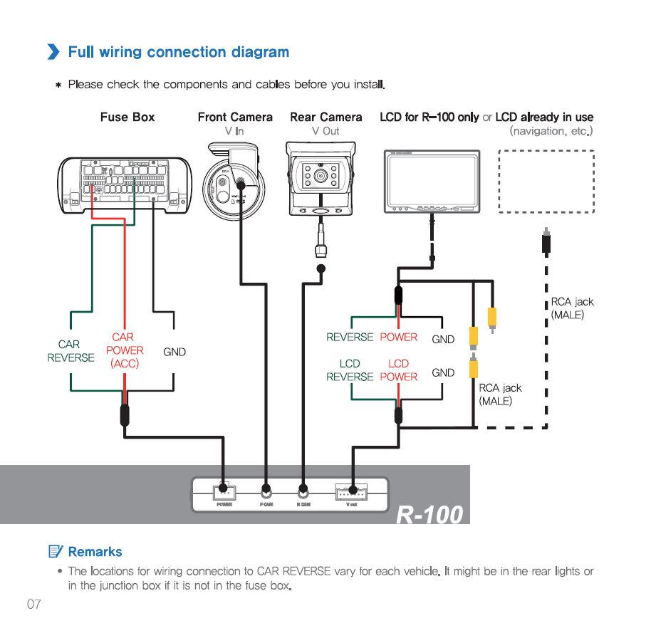 rear view camera wiring diagram rcd 510 connection diagram