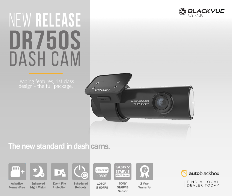 blackvue dr750s 1ch dash cam auto blackbox australia. Black Bedroom Furniture Sets. Home Design Ideas