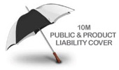 10M Public & Product Liability Cover